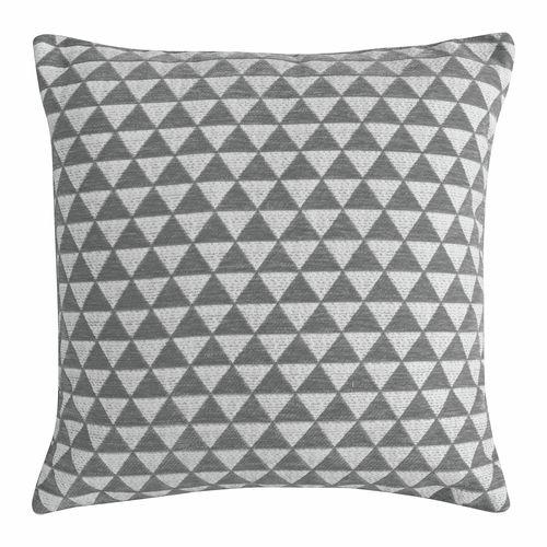 Frank Jacquard Triangles 450 x 450mm Grey Cushion