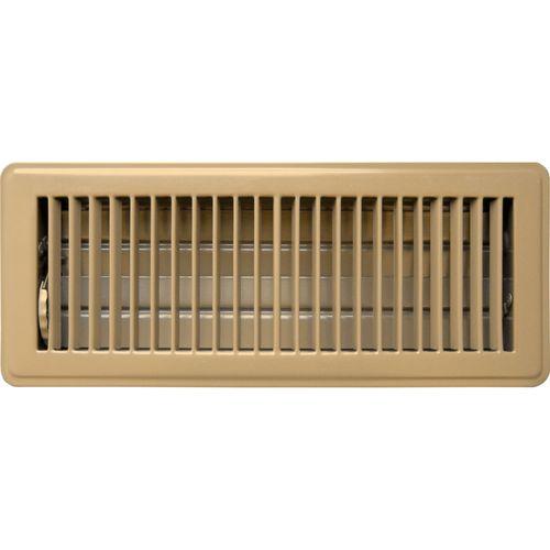 Accord 10 x 30cm Beige Metal Louvered Floor Register