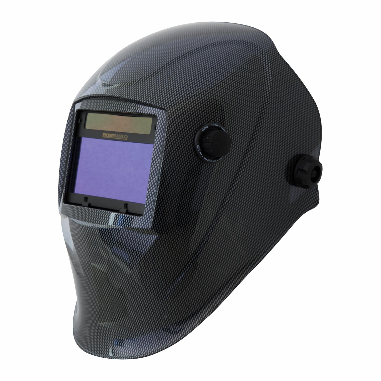 Bossweld Carbon Variable Shade Electronic Welding Helmet