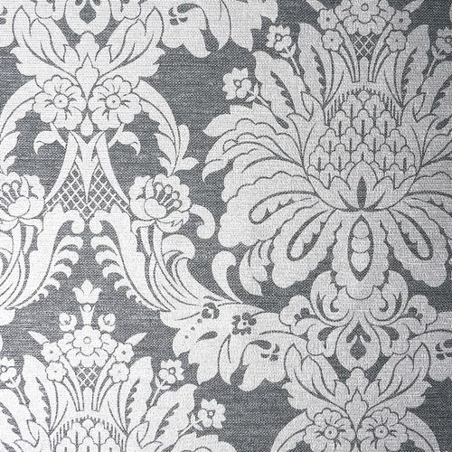 Boutique 1/2m Vogue Charcoal  Wallpaper Sample