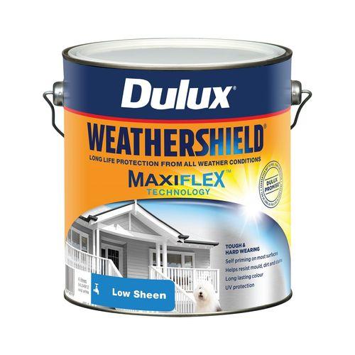 Dulux 4L Exterior Paint Weathershield Low Sheen Vivid White