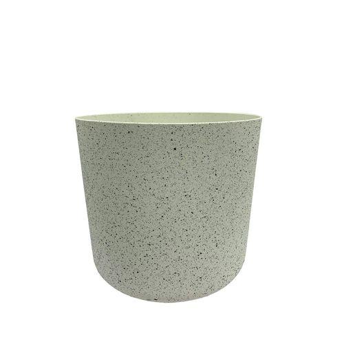 Eden 18cm White Stonelite Sphere Planter