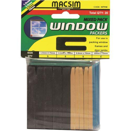 Macsim 75mm Mixed Hang Window Packer - 20 Pack