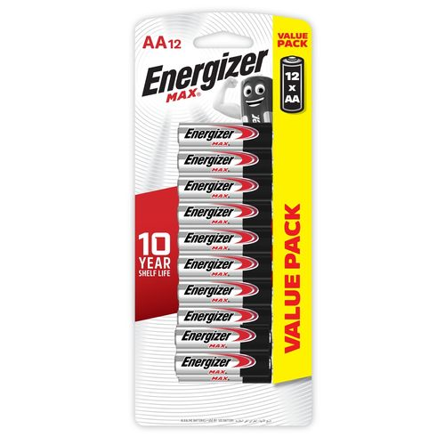Energizer Max AA Battery - 12 Pack