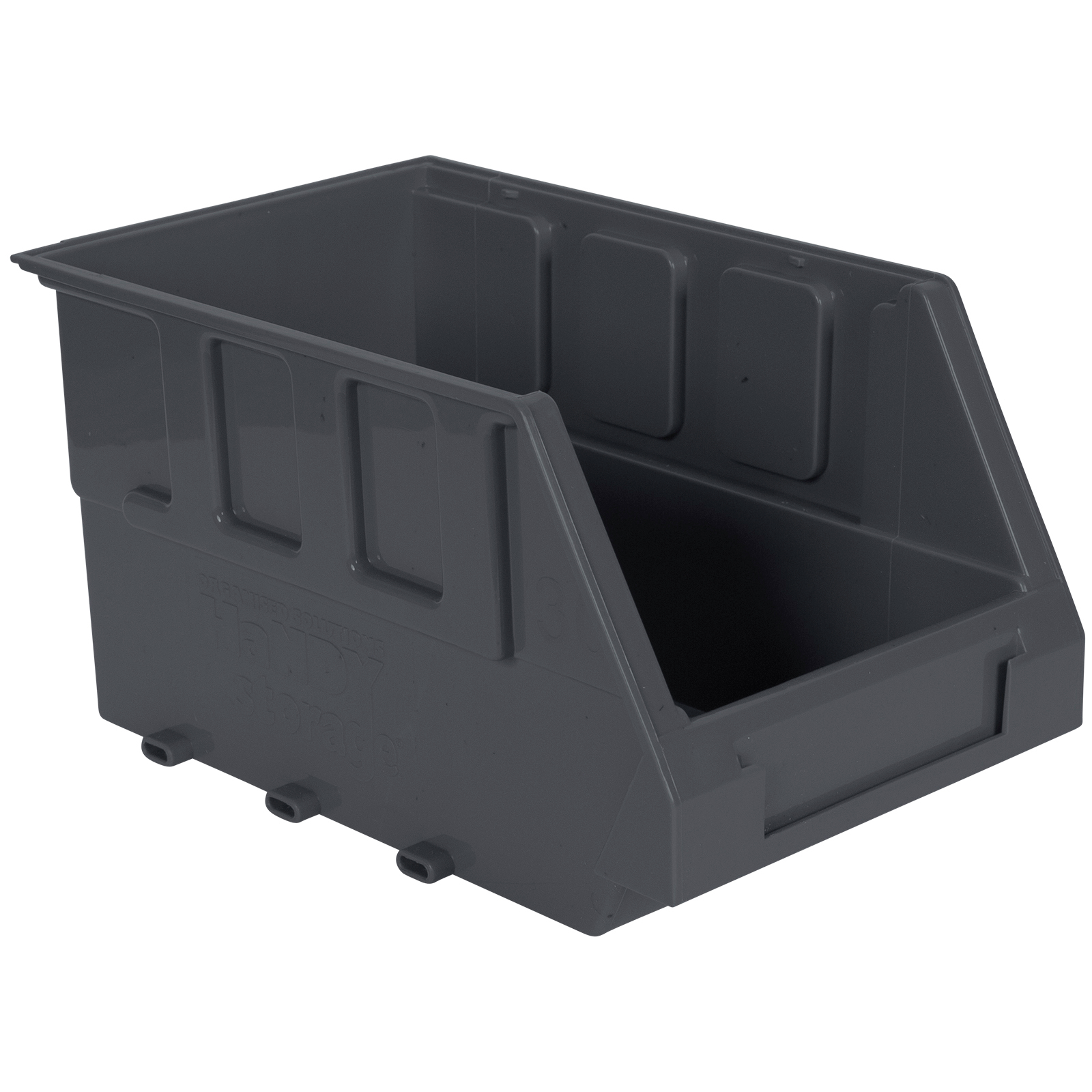 Handy Storage Size 30 Grey Plastic Storage Tote