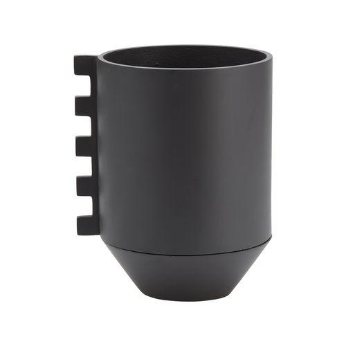 Capra 17 x 20.6cm Dark Stone Resin Pot Zip
