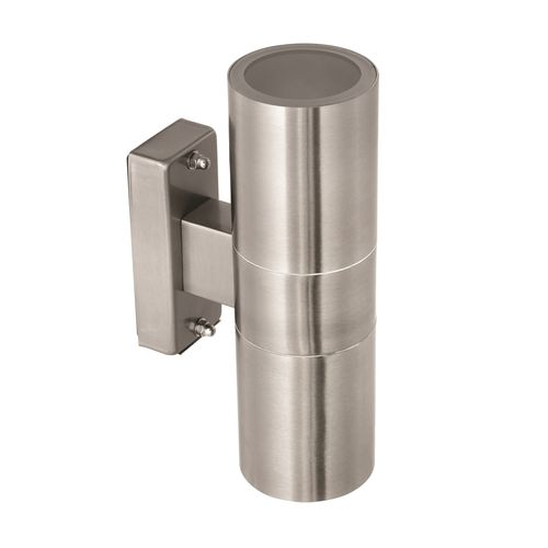 Brilliant 35W Stainless Steel Coolum Up Down Exterior Wall Light