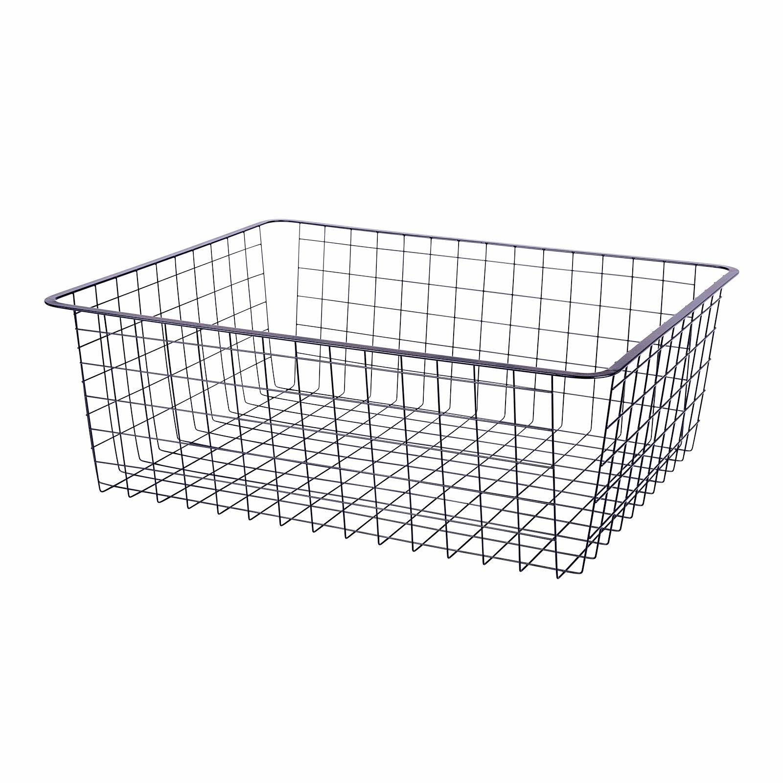 Flexi Storage Home Solution 185mm Black 2 Runner Wire Basket