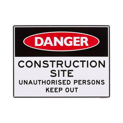 Sandleford 450 x 600mm Construction Site Plastic Sign