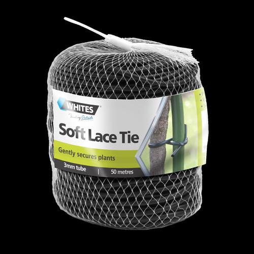 Whites 3mm x 50m Black Soft Lace Plant Tie
