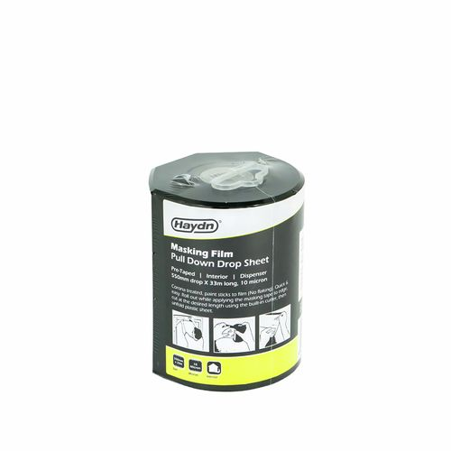 Haydn 550mm x 33m 10 Micron Pre-taped Interior Masking Film