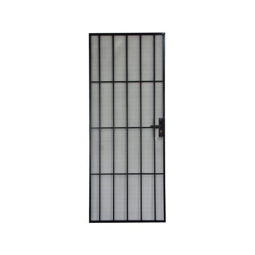Pillar Black 2032 x 813 Classic Steel Frame Met Screen Door