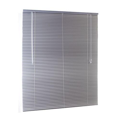 Zone Interiors 90 x 210cm 25mm Aluminium Slimline Dusk Venetian Blind - Silver 900mm x 2100mm