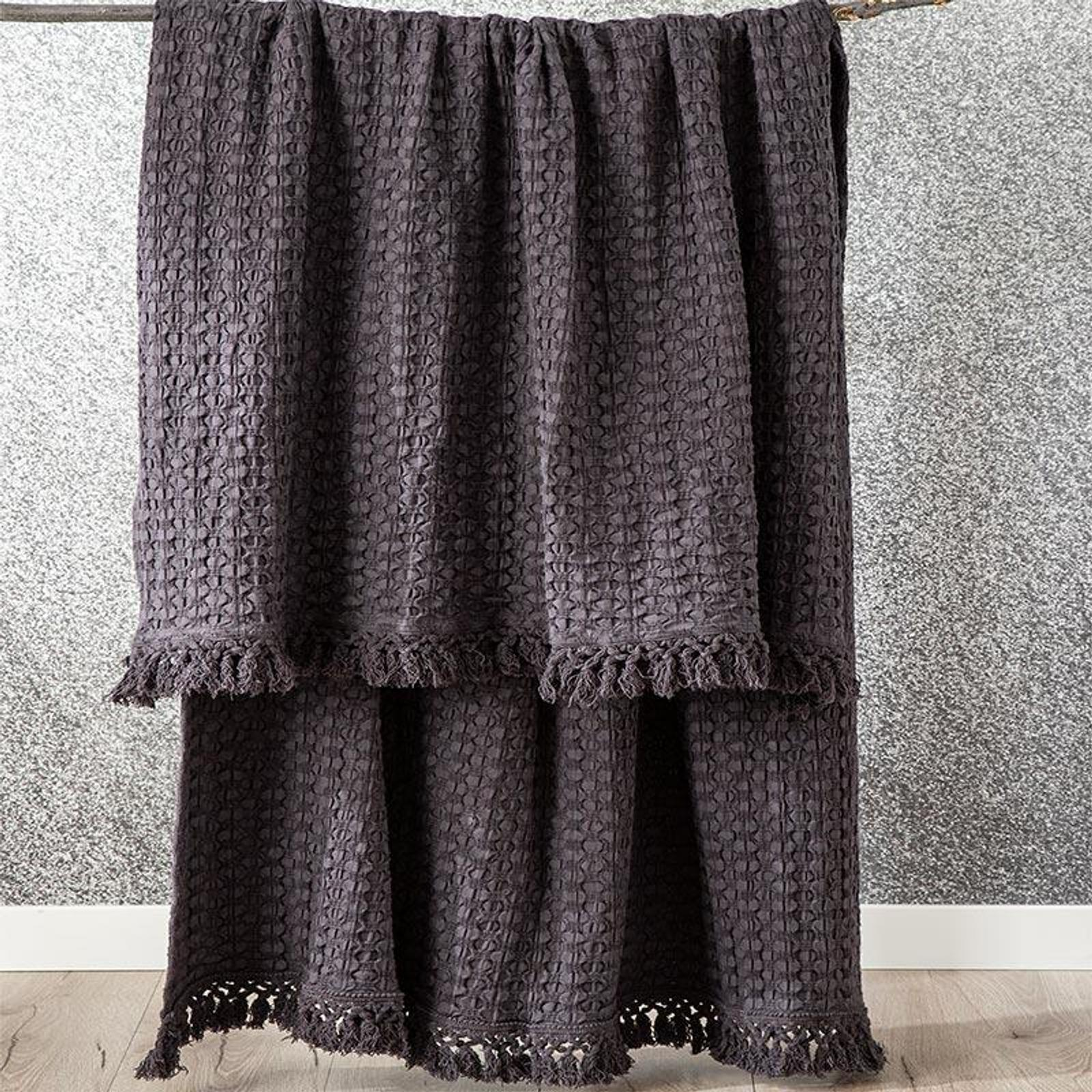 Renee Taylor Alysian Washed Cotton Textured Magnet Throw