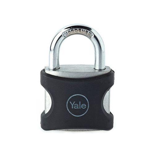 Yale 38mm Aluminium Body 19mm Shackle Black Jacket Padlock