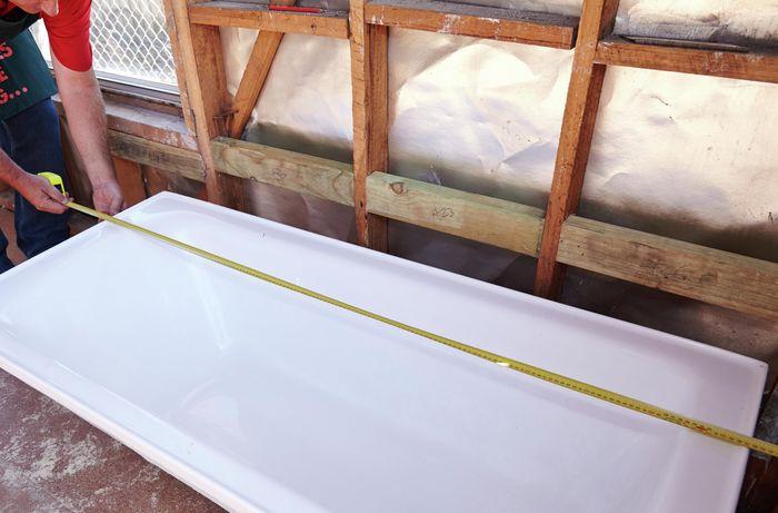 DIY Step Image - How to build a bath frame . Blob storage upload.