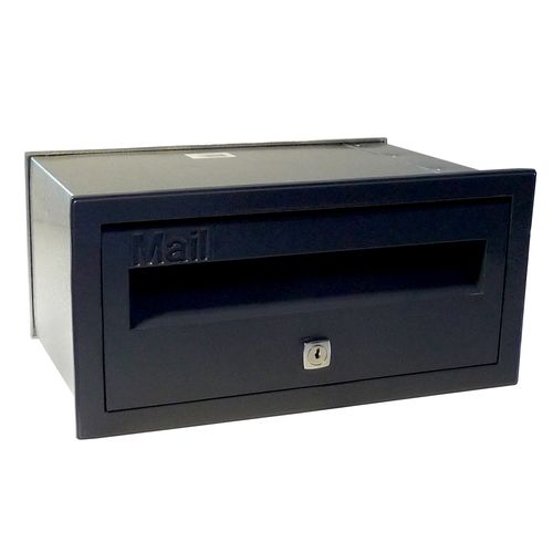 Velox 230mm Black Super Deluxe Front Open Letterbox