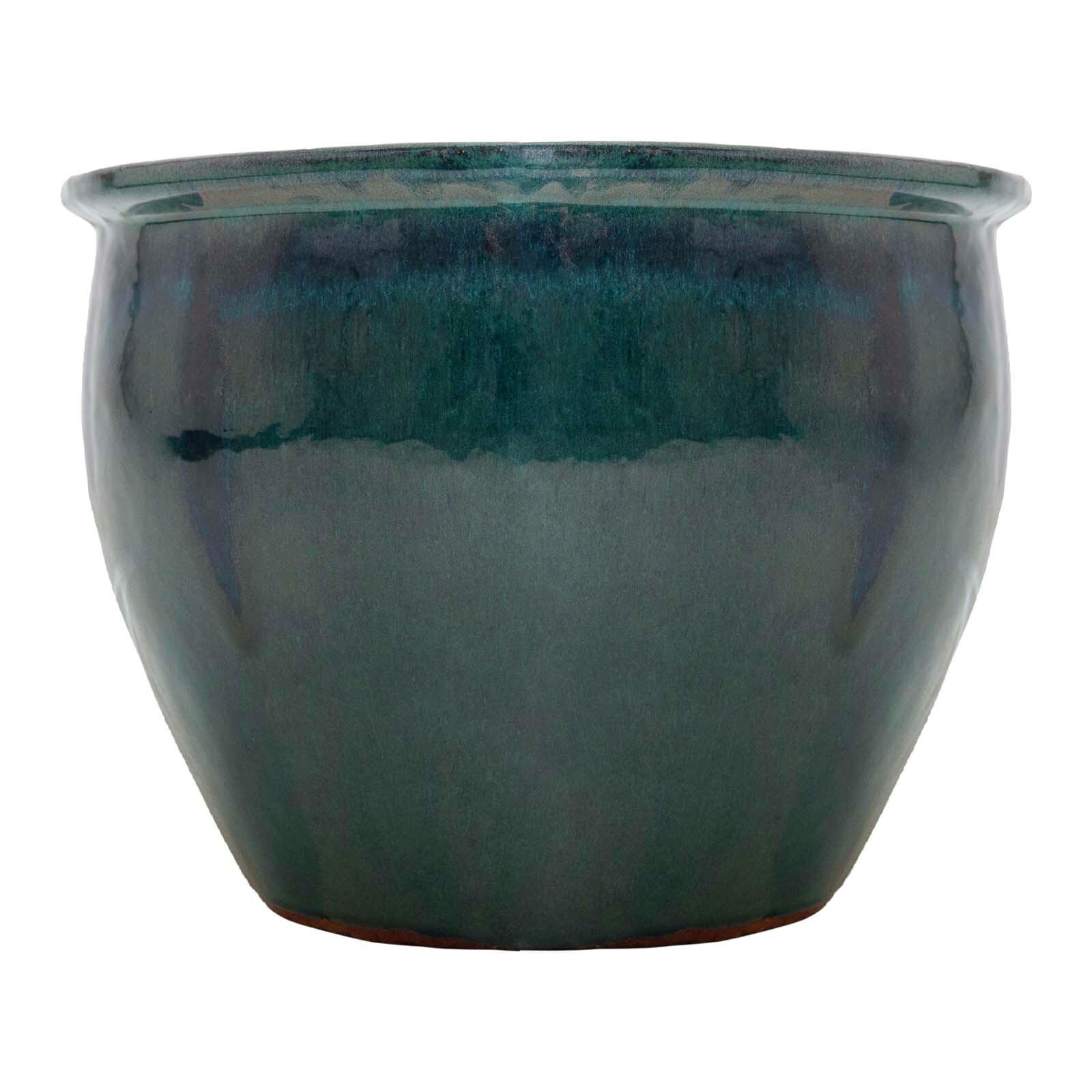 Northcote Pottery 46 x 36cm Forest Green Primo Jardin Egg Planter