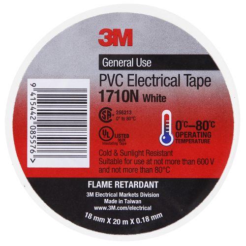 3M Electric/Vinyl Tape 18mmx20m White