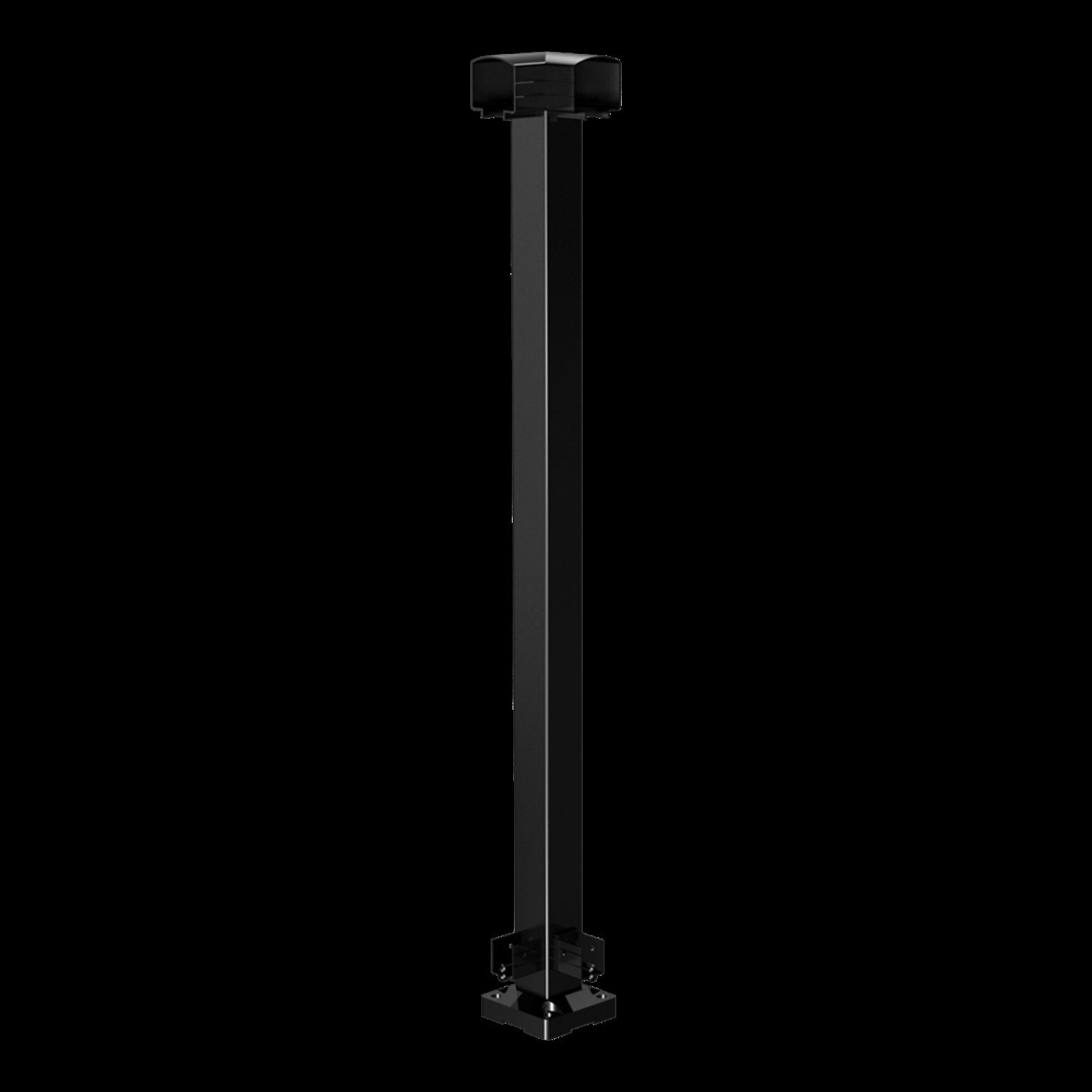 Peak Products 1000mm Black Aluminium Balustrade Corner Post