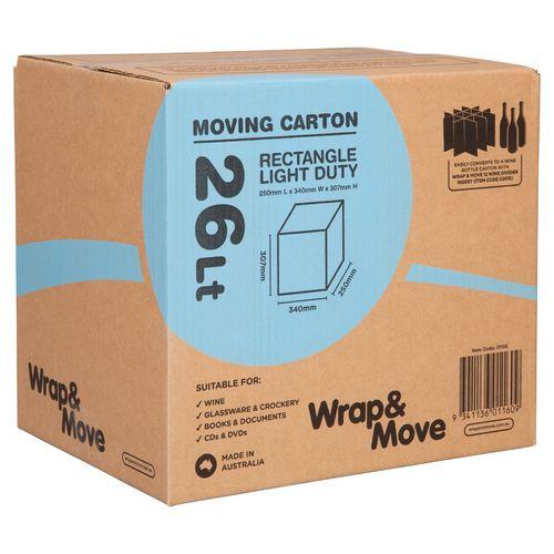 Wrap & Move 26L Light Duty Moving Carton