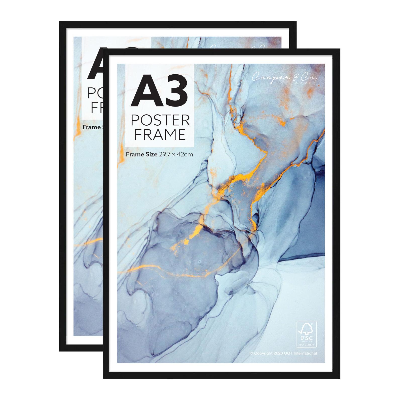 Cooper & Co. A3 Set of 2 Black Poster Photo Frames
