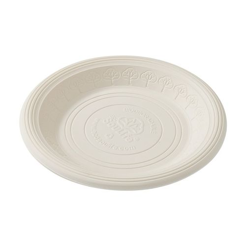 Ecosoulife Cornstarch 18cm Side Plate 20pc - Natural