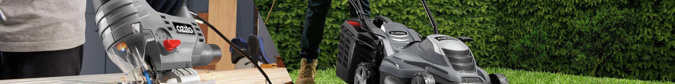 Ozito - header banner - Ozito mower and reciprocating saw
