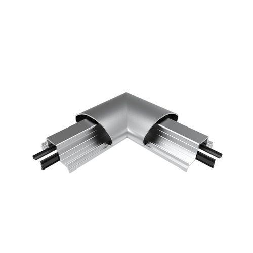 Architects Choice Silver Aluminium Oval Handrail Corner Set