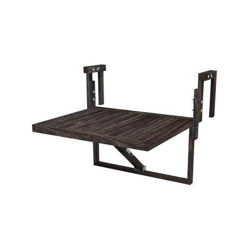 Interbuild 60x45cm Espresso Toronto Folding Balcony Table