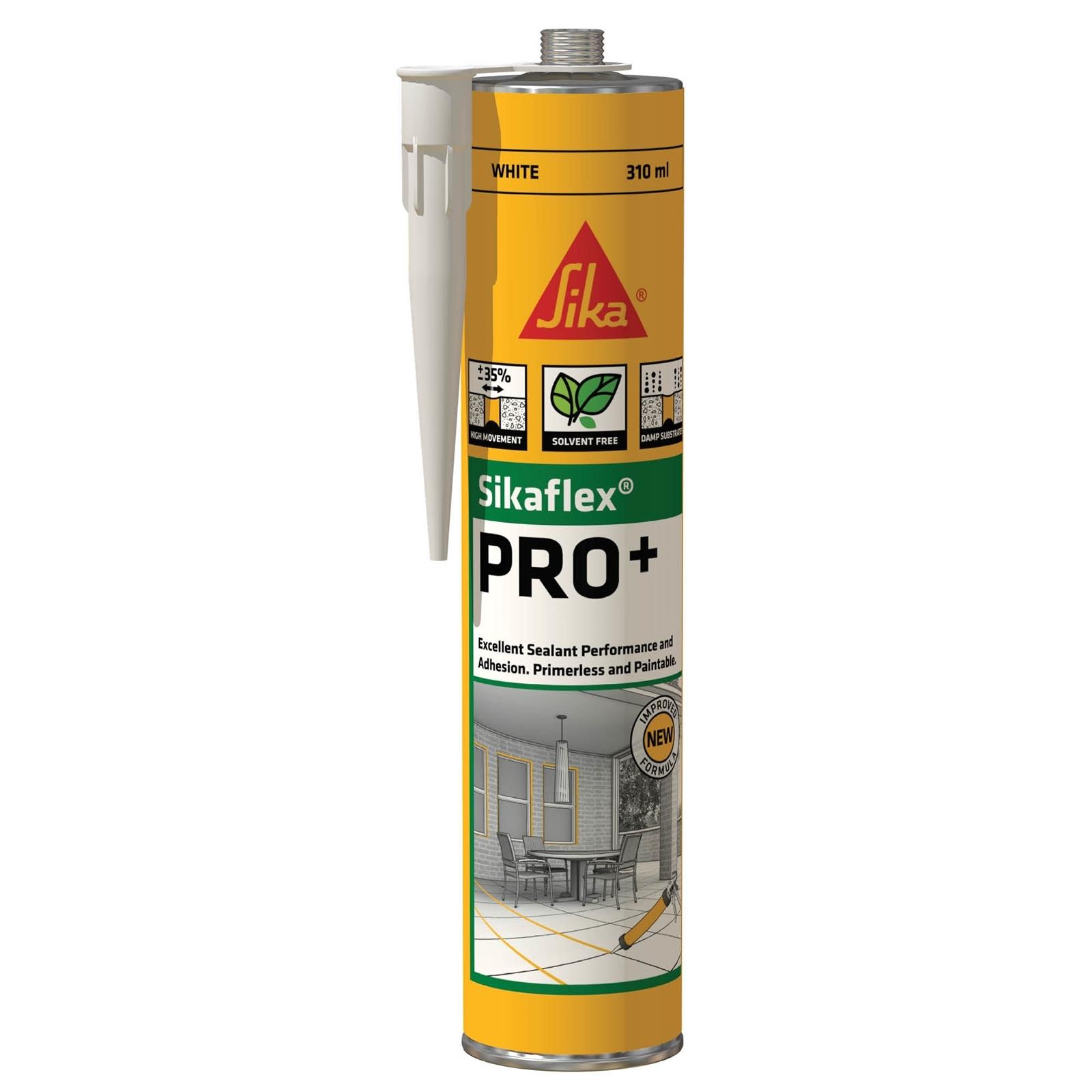 Sika 310ml White Sikaflex Pro+ Polyurethane Sealant