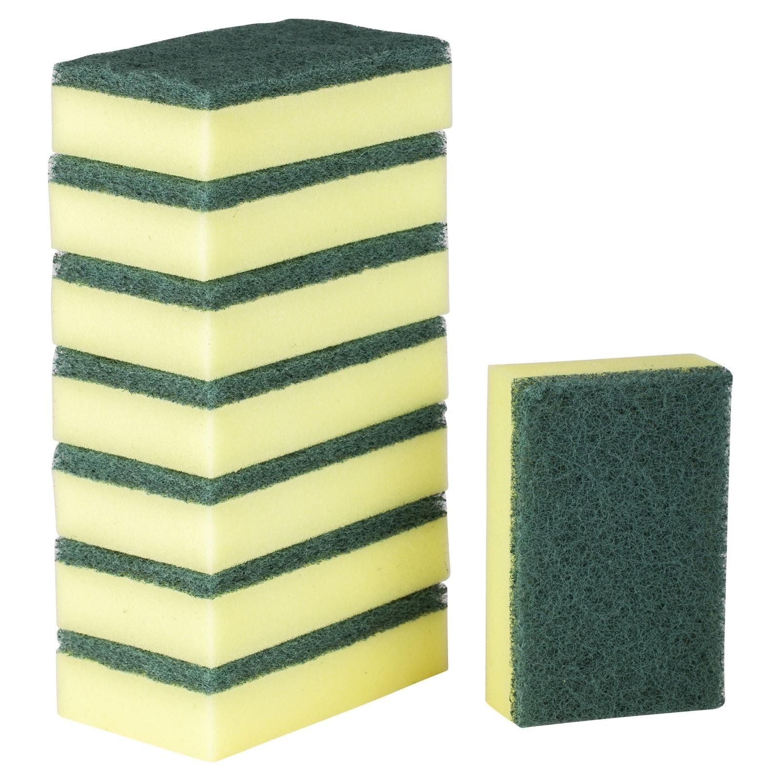3M Scotch-Brite 120mm x 80mm Heavy Duty Scrub Sponges - 8 Pack