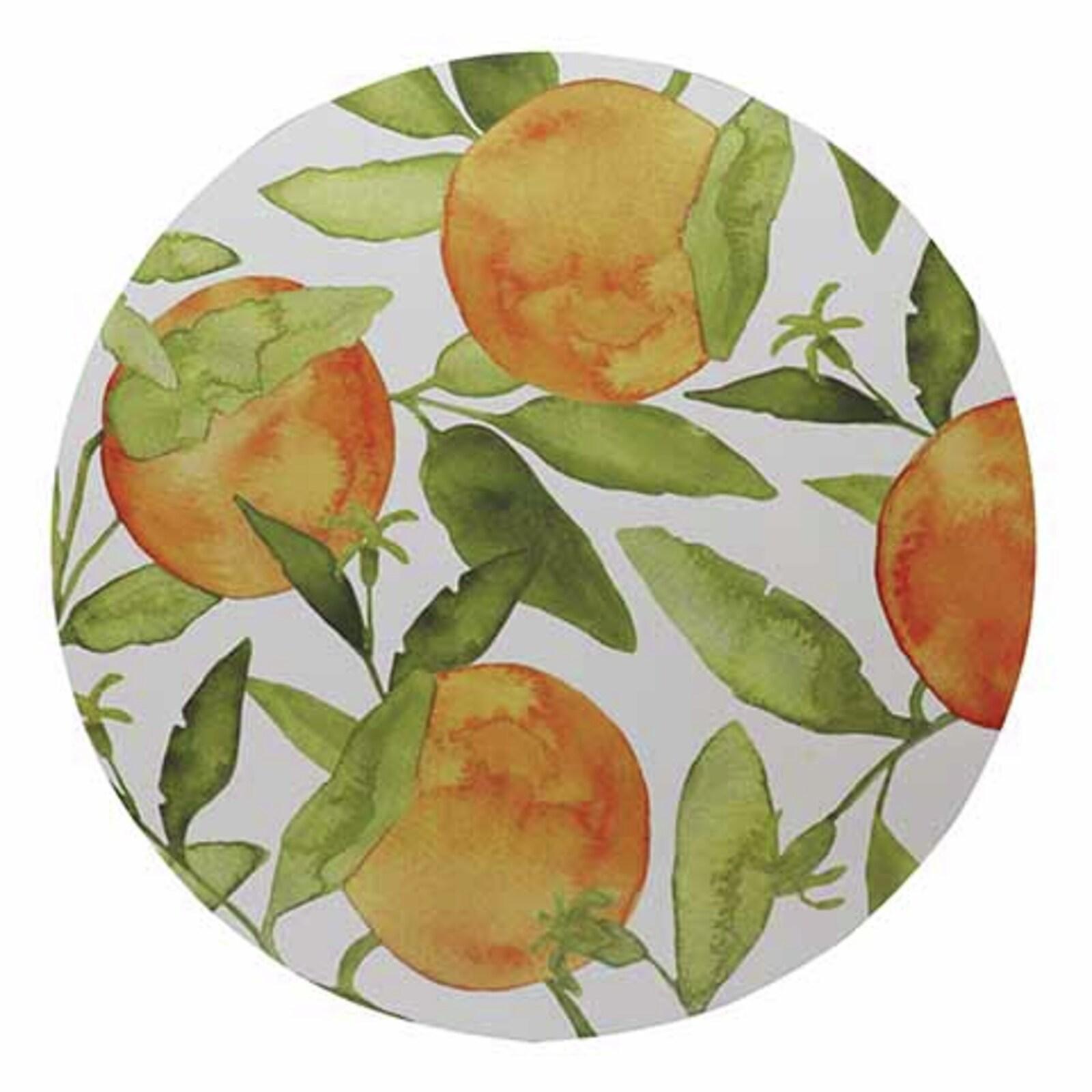 Oranges Set of 4 Round Placemats