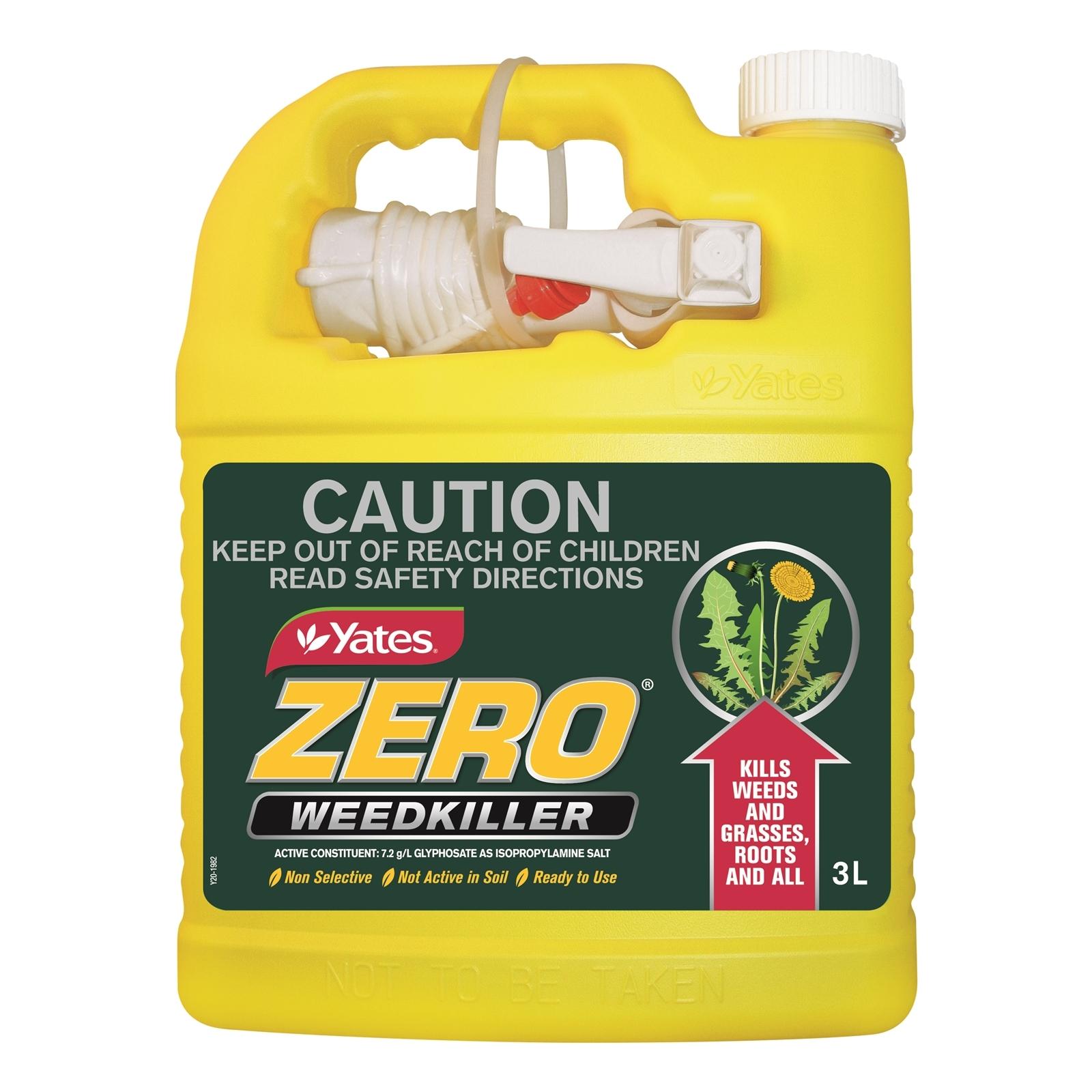 Yates 3L Ready To Use Zero Weed Killer Big Gun