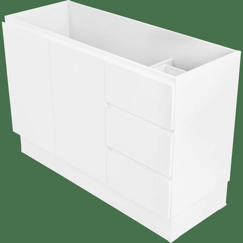 Cibo Design 1200mm White Tonic Full Height Vanity - Cabinet Only