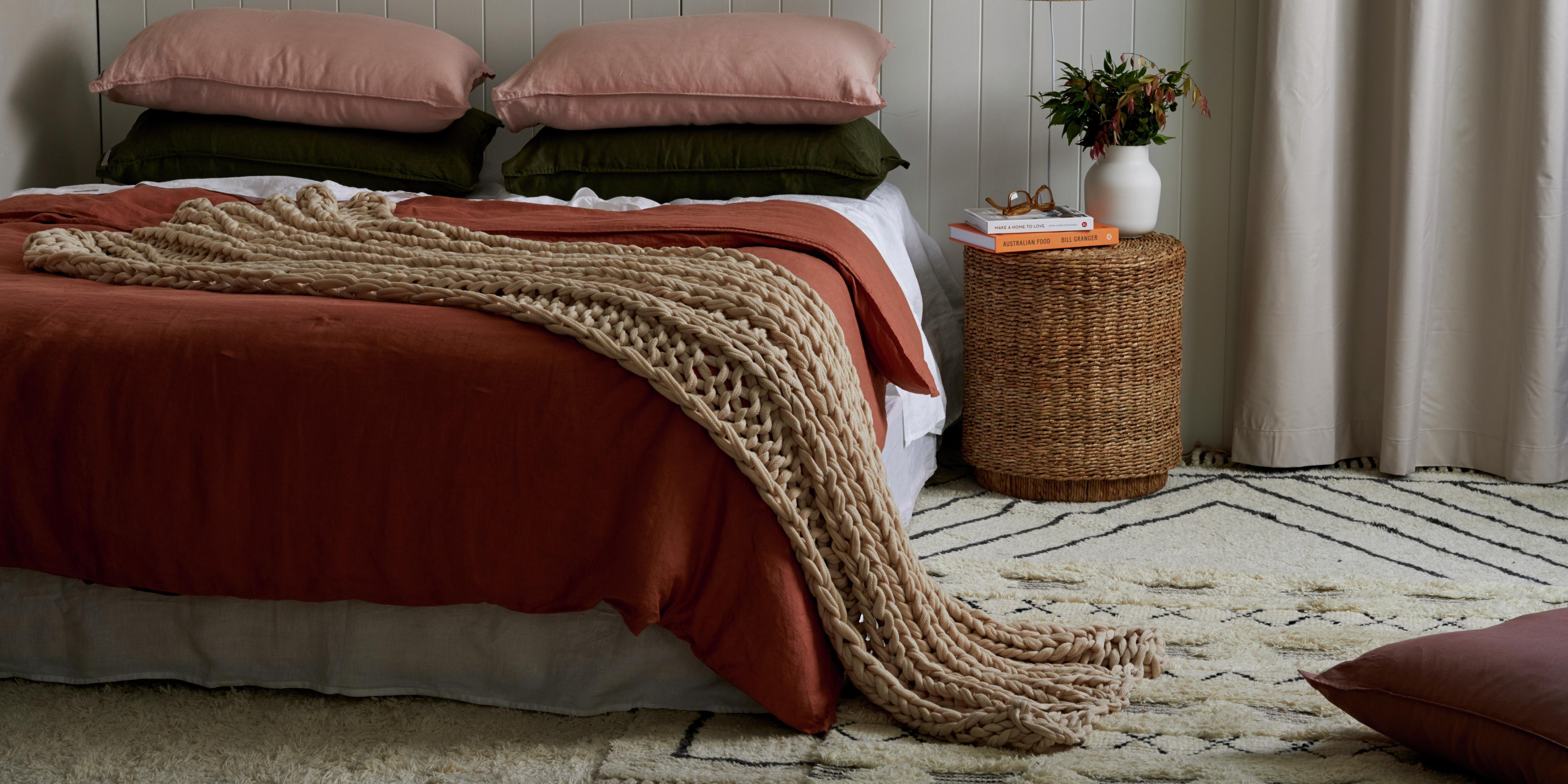 A blissfully warm bedroom