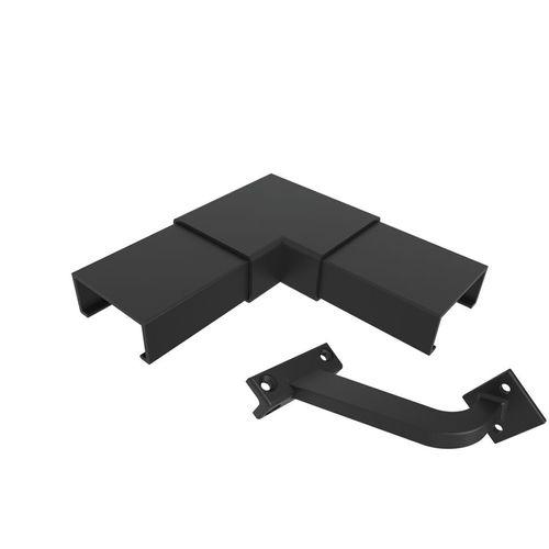 Architects Choice Black Aluminium Offset Handrail Corner Set
