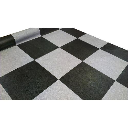 Vinyl Sheet Econo 1.83m Ideal Char&grey Check Bud183 5302