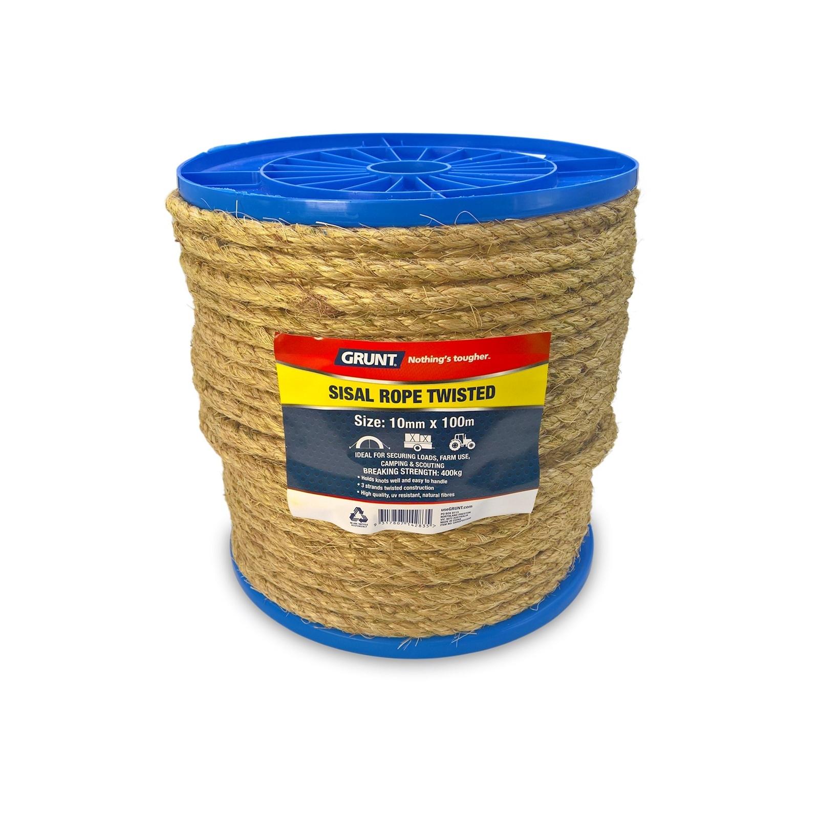 Grunt 10mm x 100m Sisal Twisted Rope