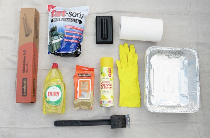 Tools and materials needed to clean your BBQ