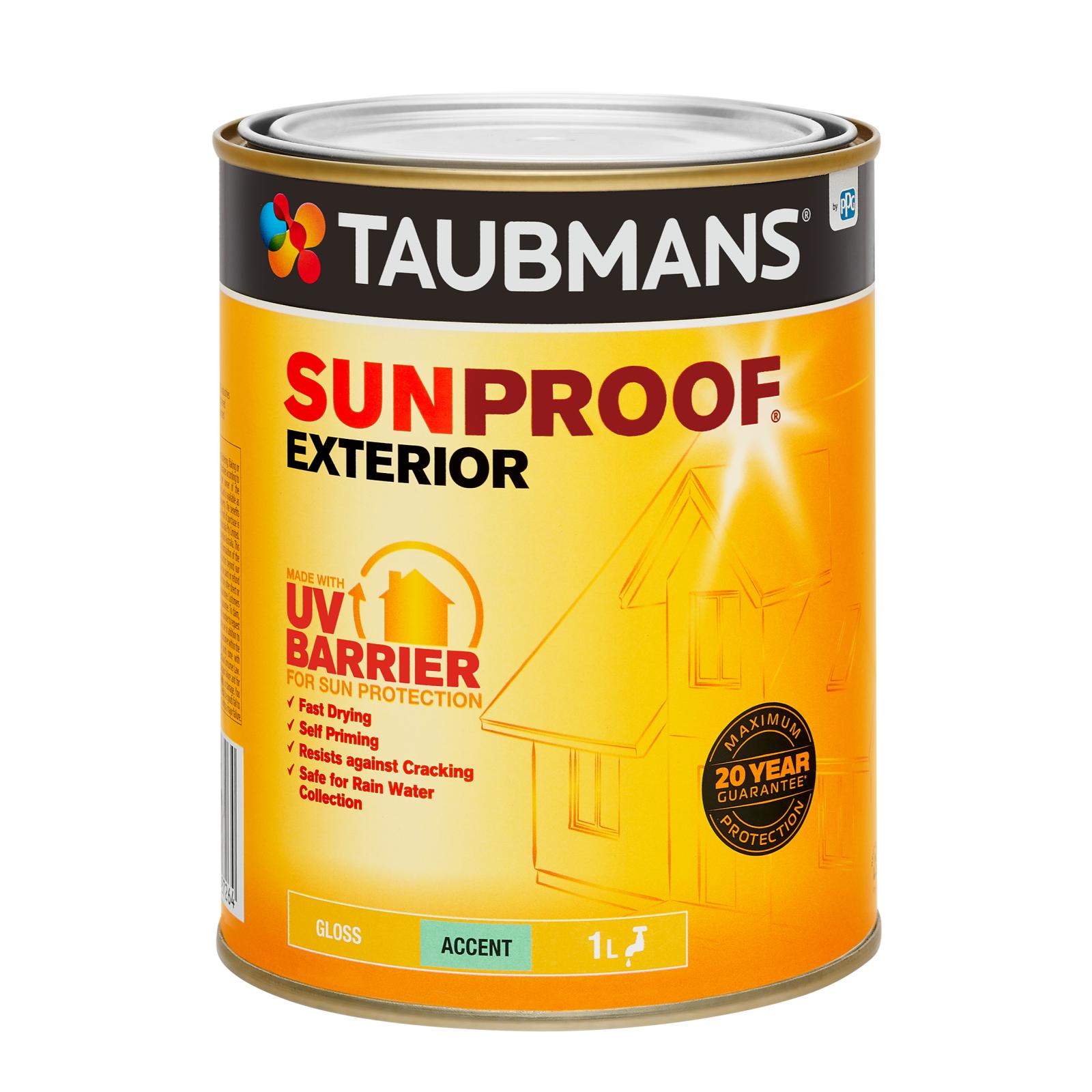 Taubmans Gloss Accent Sunproof Exterior Paint - 1L