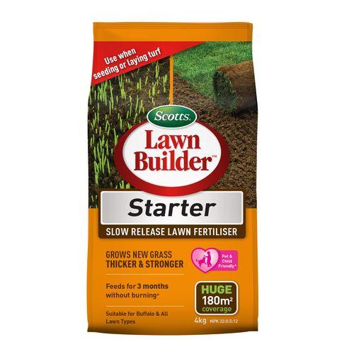 Scotts Lawn Builder 4kg Starter Slow Release Lawn Fertiliser