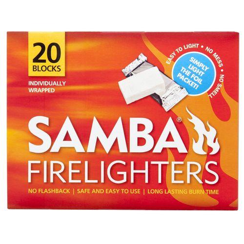 Samba Individually Wrapped Firelighter - 20 Pack