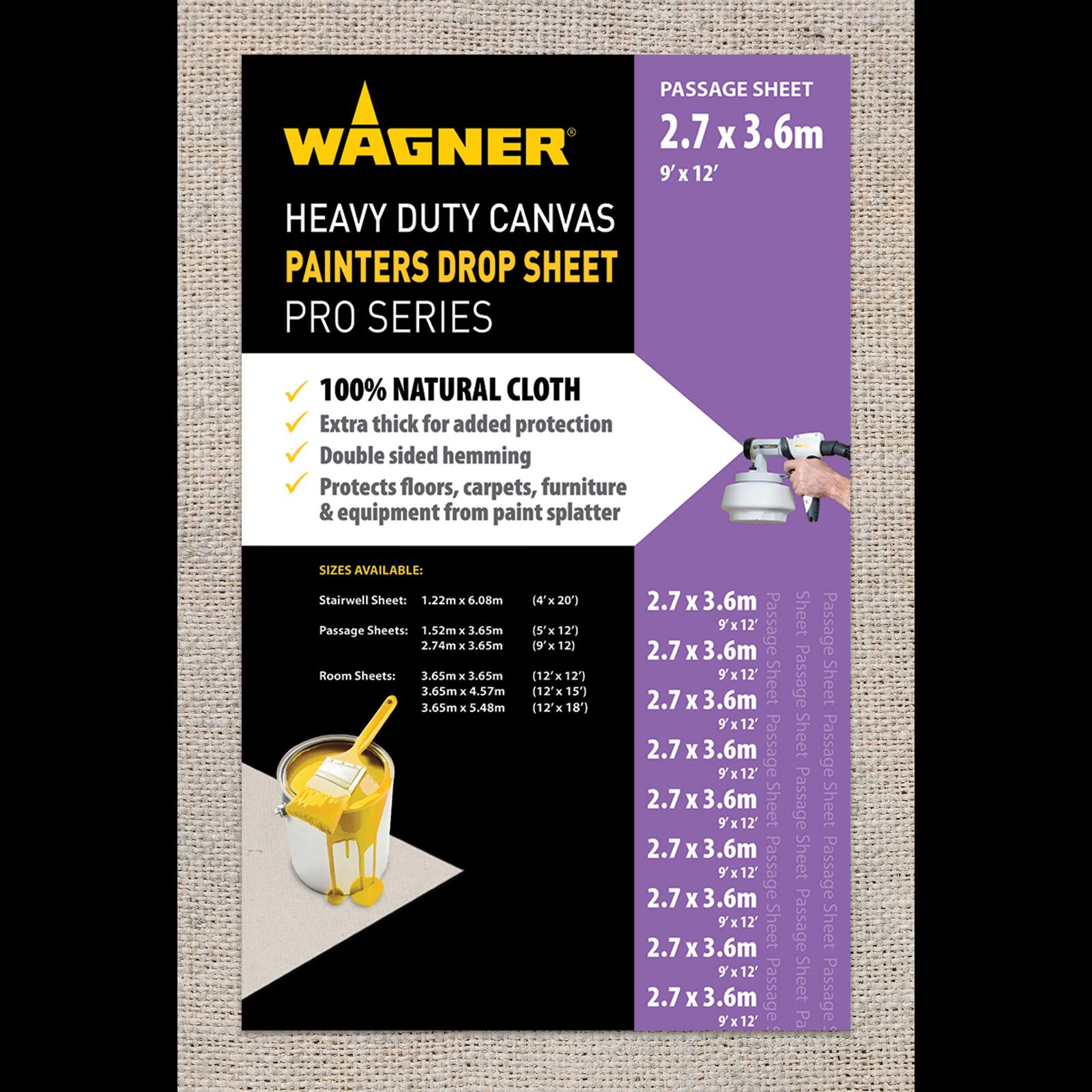 Wagner 3.65 x 2.74m Heavy Duty Canvas Drop Sheet