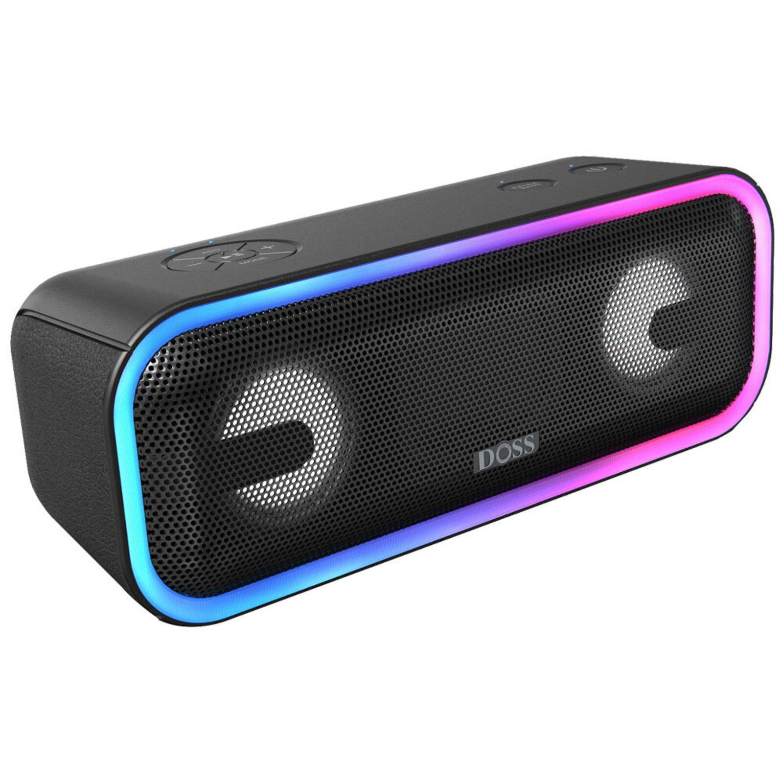 Doss Soundbox Pro+ 24W Bluetooth/Wireless/Portable Audio Speaker w/ Aux Black