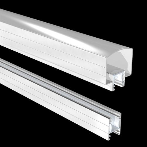 Peak Products 1200mm White Aluminium Balustrade Hand And Base Rail