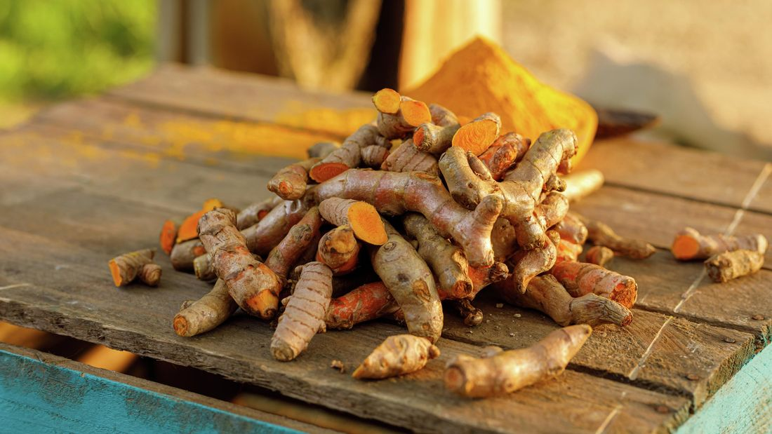 Pile of turmeric
