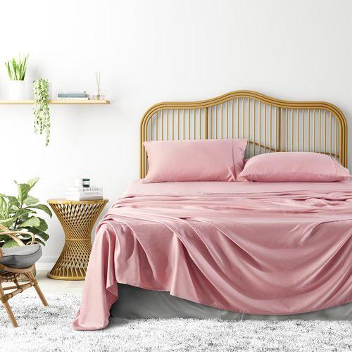 Natural Home Tencel Sheet Set - BLUSH PINK