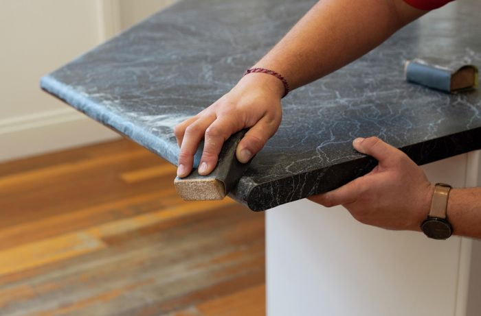 DIY Step Image - Modernise your kitchen by painting the benchtop. Blob storage upload.
