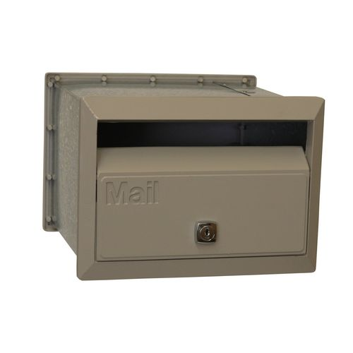 Velox 230mm Dune Front Open Letterbox with Sleeve